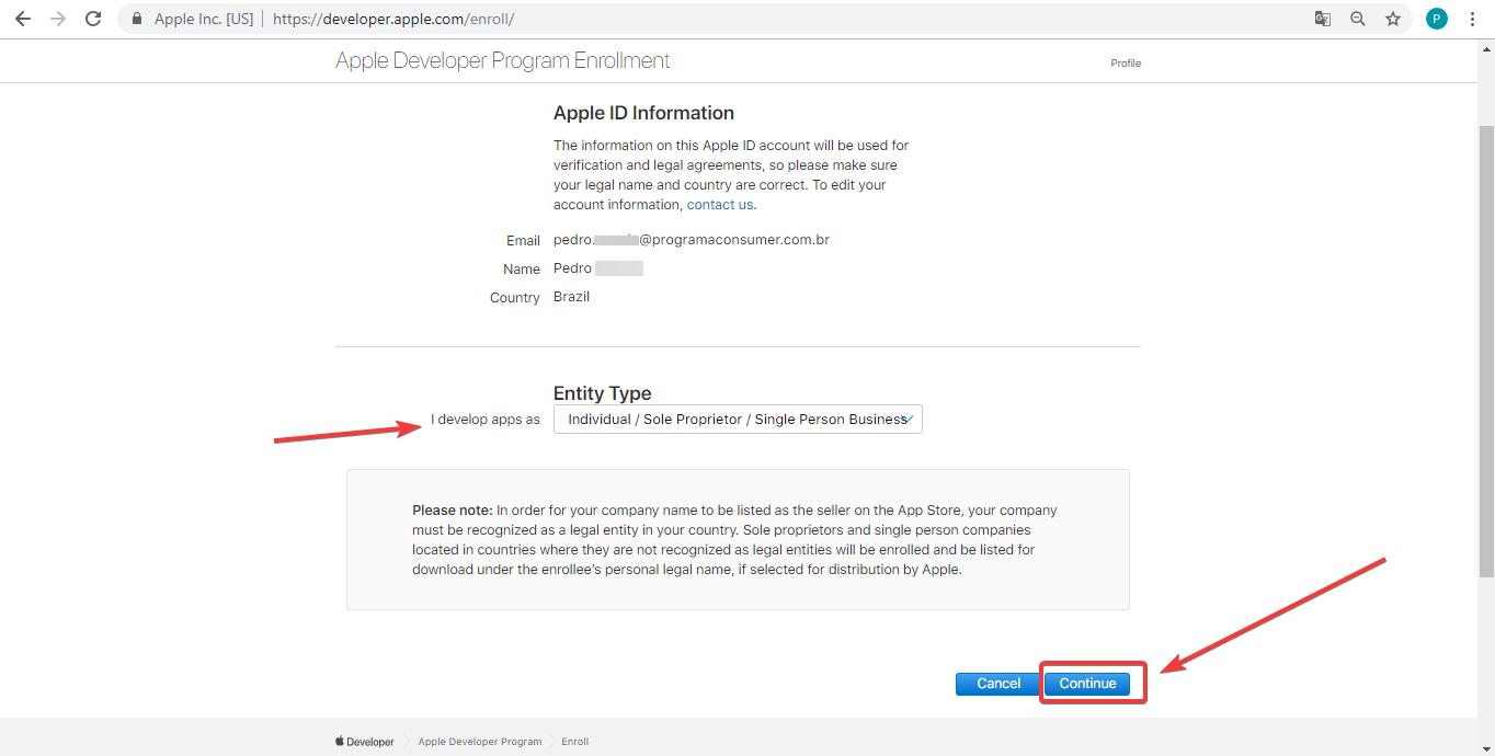 Como criar uma conta Apple Developer? | Ajuda do Programa